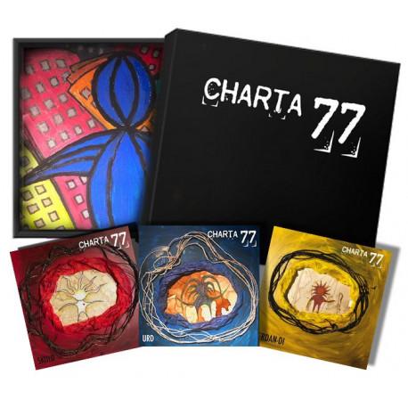 Ödesboxen + alla tre vinyl (färgad vinyl) (FÖRHANDSBOKNING)